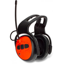 Husqvarna hallásvédő FM rádióval